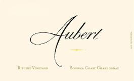 Aubert Wines Ritchie Vineyard Chardonnay label