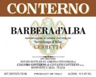 Giacomo Conterno Barbera d'Alba Cerretta label