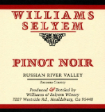 Williams Selyem Russian River Valley Pinot Noir label