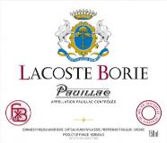 Château Grand-Puy-Lacoste Lacoste-Borie label