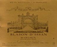 Château d' Issan Blason d'Issan label