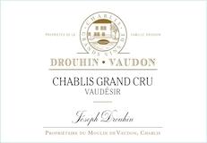 Maison Joseph Drouhin Chablis Grand Cru Vaudésir label
