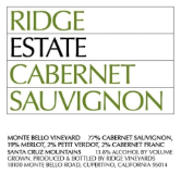 Ridge Vineyards Estate Cabernet Sauvignon label