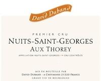 David Duband Nuits-Saint-Georges Premier Cru Aux Thorey label