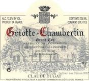 Domaine Claude Dugat Griotte-Chambertin Grand Cru  label
