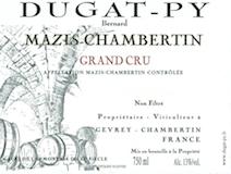 Domaine Bernard Dugat-Py Mazis-Chambertin Grand Cru Vieilles Vignes label