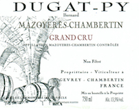 Domaine Bernard Dugat-Py Mazoyères-Chambertin Grand Cru  label
