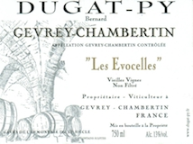 Domaine Bernard Dugat-Py Gevrey-Chambertin Les Evocelles Vieilles vignes label