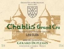 Domaine Gérard Duplessis Chablis Grand Cru Les Clos label