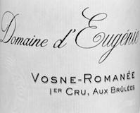 Domaine d'Eugénie (ex René Engel) Vosne-Romanée Premier Cru Les Brûlées label