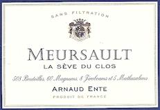 Arnaud Ente Meursault La Sève du Clos label