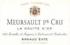 Arnaud Ente Meursault Premier Cru Les Gouttes d'Or label