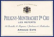 Arnaud Ente Puligny-Montrachet Premier Cru Les Referts label
