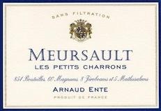 Arnaud Ente Meursault Les Petits Charrons label