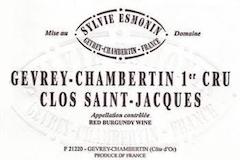 Domaine Sylvie Esmonin Gevrey-Chambertin Premier Cru Clos Saint-Jacques label