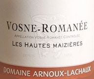 Domaine Arnoux-Lachaux (ex Robert Arnoux) Vosne-Romanée Les Hautes Maizières label