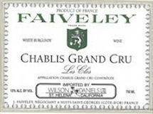 Domaine Faiveley Chablis Grand Cru Les Clos label