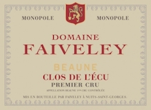 Domaine Faiveley Beaune Premier Cru Clos de l'Ecu label