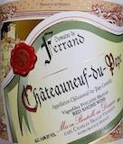 Domaine de Ferrand Châteauneuf-du-Pape  label