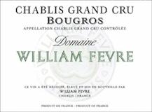 Domaine William Fèvre Chablis Grand Cru Bougros Côte Bouguerots label
