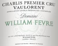 Domaine William Fèvre Chablis Premier Cru Vaulorent label