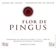 Dominio de Pingus Flor de Pingus label