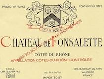 Château de Fonsalette Côte du Rhône Blanc label
