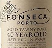 Fonseca Porto  40 Year Old Tawny Port label