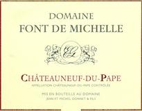 Domaine Font de Michelle Châteauneuf-du-Pape  label