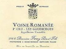 Domaine Régis Forey Vosne-Romanée Premier Cru Les Gaudichots label