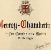 Domaine Fourrier Gevrey-Chambertin Premier Cru Combe aux Moines Vieilles Vignes label