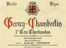 Domaine Fourrier Gevrey-Chambertin Premier Cru Cherbaudes Vieilles Vignes label