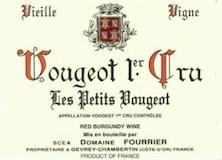 Domaine Fourrier Vougeot Premier Cru Les Petits Vougeots Vieilles Vignes label