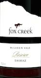Fox Creek Reserve Shiraz label