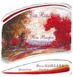 Domaine Pierre Gaillard Côte Rôtie Rose Pourpre label