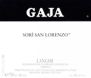 Gaja Barbaresco Sorì San Lorenzo label