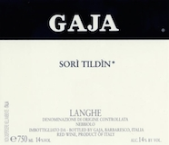 Gaja Barbaresco Sorì Tildìn label