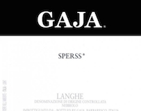 Gaja Barolo Sperss label