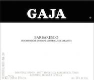 Gaja Barbaresco  label