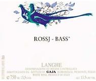 Gaja Langhe Rossj Bass label