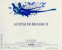 Gaja Langhe Alteni di Brassica label