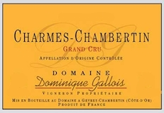 Domaine Dominique Gallois Charmes-Chambertin Grand Cru  label