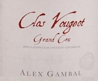 Alex Gambal Clos de Vougeot Grand Cru  label