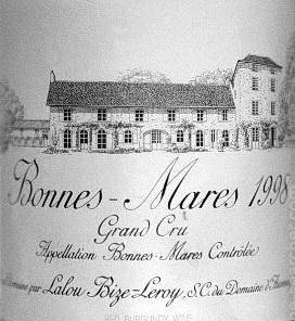 Domaine d'Auvenay (Lalou Bize-Leroy) Bonnes-Mares Grand Cru  label