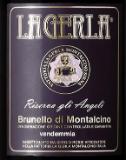 Fattoria La Gerla Brunello di Montalcino Riserva gli Angeli label