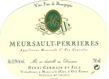 Henri Germain et Fils Meursault Premier Cru Perrières label
