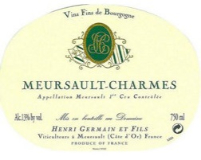 Henri Germain et Fils Meursault Premier Cru Charmes label