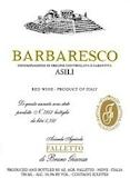 Azienda Agricola Falletto (Bruno Giacosa) Barbaresco Asili label