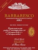 Azienda Agricola Falletto (Bruno Giacosa) Barbaresco Asili Riserva label