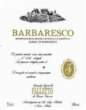 Azienda Agricola Falletto (Bruno Giacosa) Barbaresco Rabajà label
